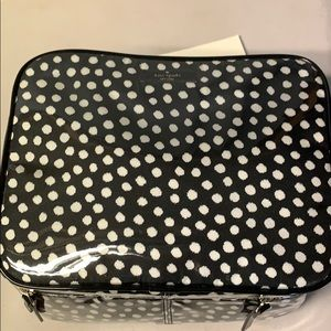 Kate spade polka dot Nwt Mattie cosmetic case